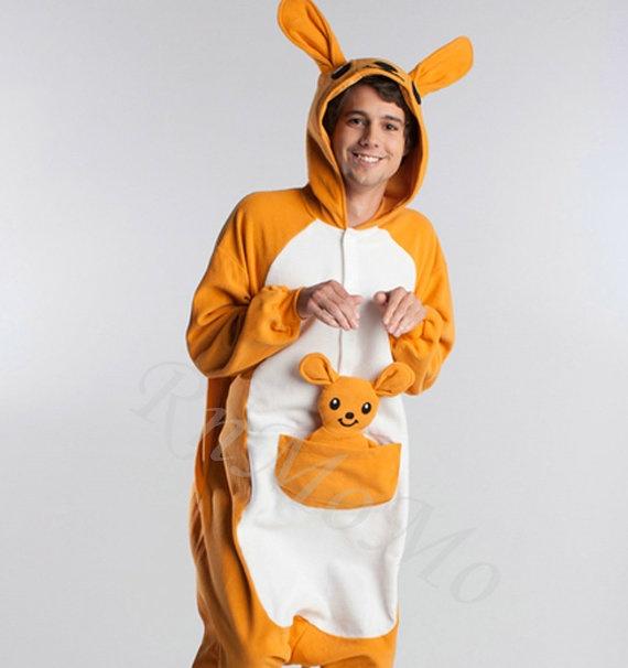 KIGURUMI Animal Pajamas Pyjamas Costume Onesie Adult / Kid SLOTH-kangaroo on Etsy, £32.77