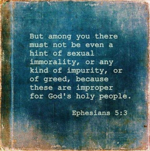 Image result for Ephesians 5:3-5