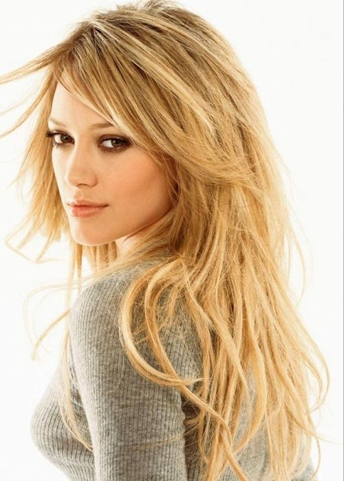 I absolutely LOVE hilary duff. She still is sane! long tousled hairstyle for straight hair