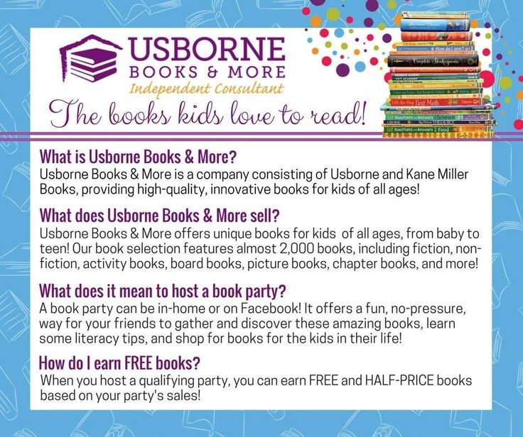 I would love to show you what Usborne Books & More has to