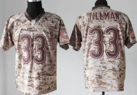 Nike Chicago Bears #33 Charles Tillman 2013 USMC Camo Elite Jersey