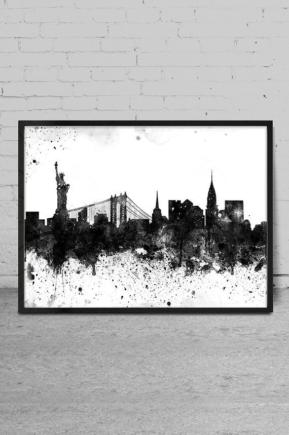 New York art New York skyline Painting New York by MyVisualArt