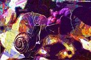 """New artwork for sale! - """" Animal Mollusk Snail Flower Garden  by PixBreak Art """" - http://ift.tt/2uArtjW"""