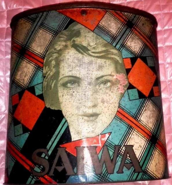 Grande scatola di latta 1940 Saiwa