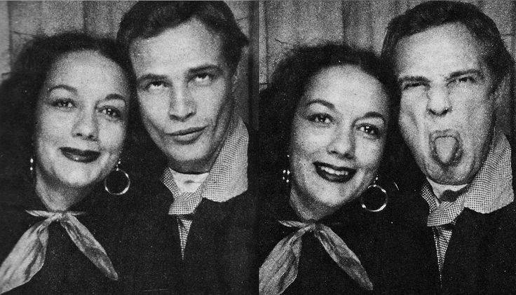 Marlon and his second wife, Movita Castaneda.