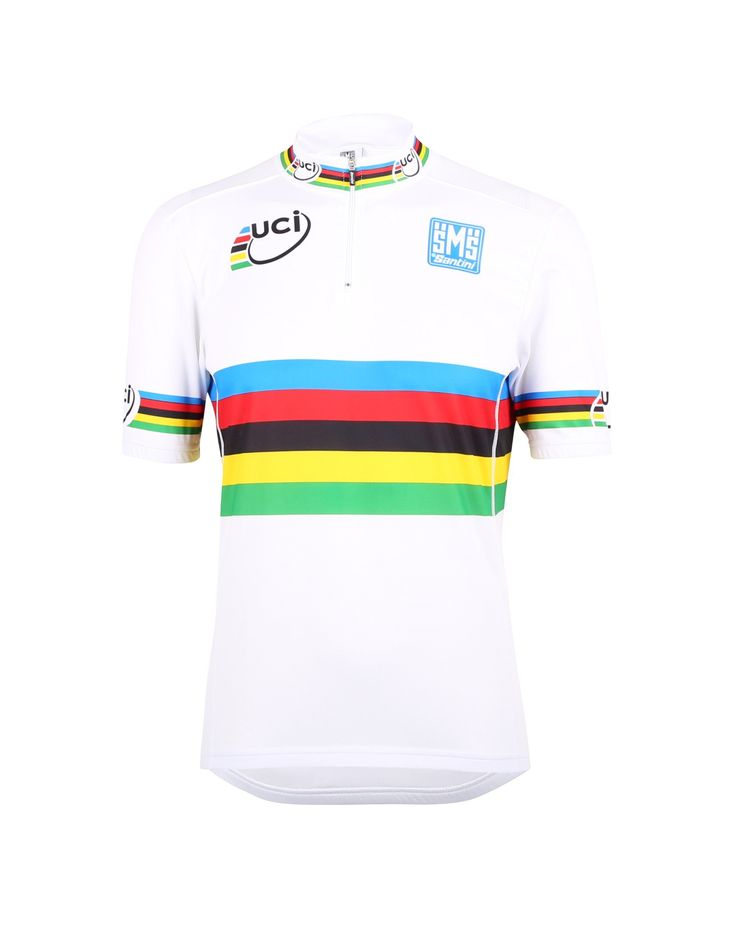 UCI World Championship CYCLING JERSEY (short zip) Made in Italy by Santini