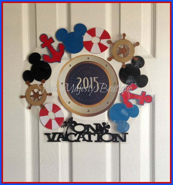 Nautical Mickey Mouse Magnet Wreath for by HairMajestyBoutique, $18.00