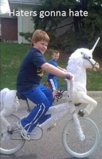 Haters gonna hate @kimi kalriess @jordandebuttsLike A Boss, Gonna Hate, Unicorns Bikes, Funny, Haters Gonna, Gingers, Kids, Riding A Bikes, Likeaboss