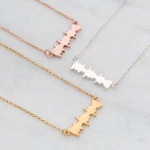 'I Love You' Secret Message Soundwave Necklace - gifts for her