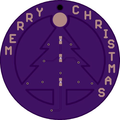 We were excited to see this tweet from Josh Talbot: The EAGLE design files are shared on BitBucket: PCB Tree Ornament  The board has been shared on OSH Park: Merry Christmas ornament