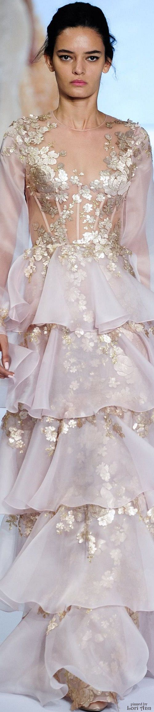 ℳiss Giana's Gorgeous Gowns ♛ ♛    Poppy Pea   Spring 2016 Haute Couture Ralph & Russo                                                                                                                                                                                 More