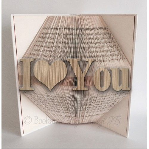 I Love You - Book Folding Pattern - 800 Pages/400 Folds ...