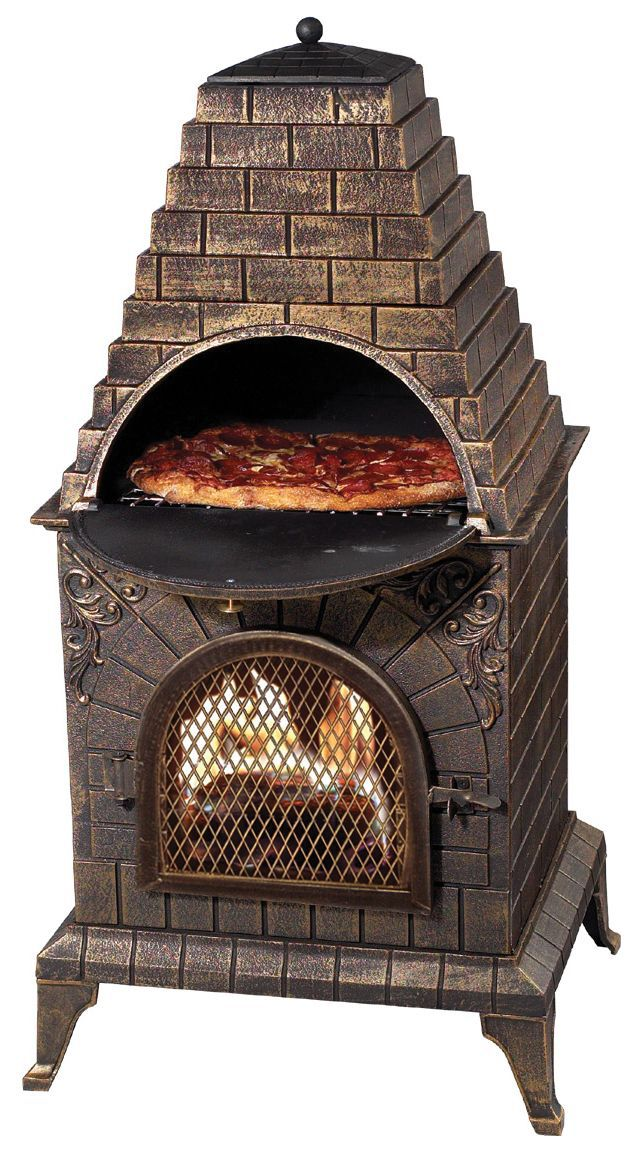 Features:  -Rain cover included.  -Aztec Allure Pizza Oven.  -Multi-functional .  Product Type: -Wood-Burning.  Primary Material: -Stainless Steel.  Color: -Brown. Dimensions:  Overall Height - Top to