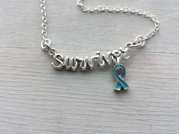 Sterling Silver Script survivor Necklace by MyStonebridgeDesigns