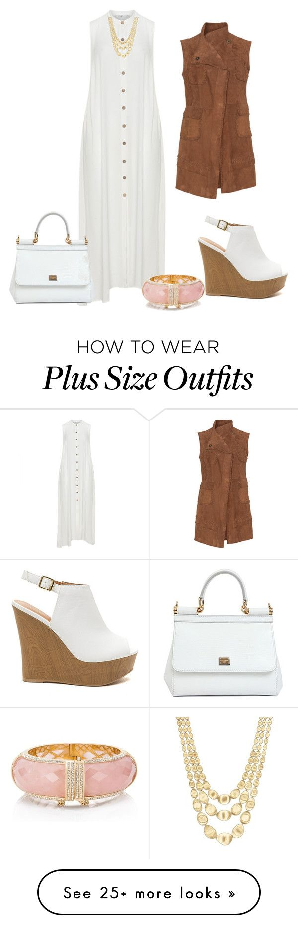 """Plus size outfit"" by sharon-chetty on Polyvore featuring Mat, Marco Bicego, Kate Spade and Dolce&Gabbana"