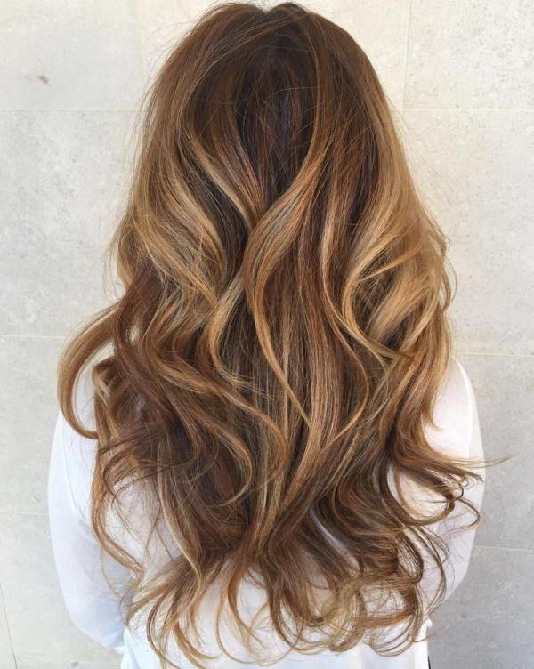 Caramel Balayage For Long Hair