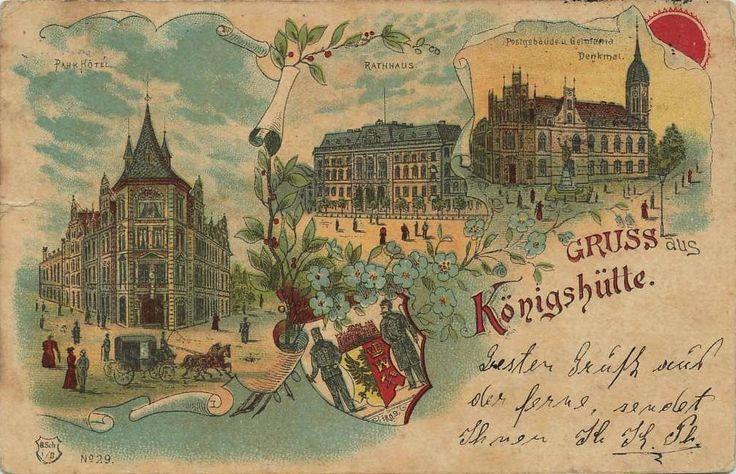 Widokówki z Chorzowa, Chorzów - 1900 rok, stare zdjęcia