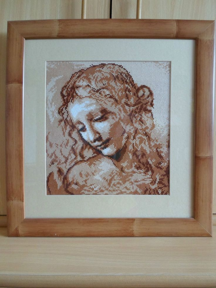 RIOLIS COUNTED CROSS STITCH - THE HEAD OF A WOMEN BY LEONARDO DA VINCI 19x18inch