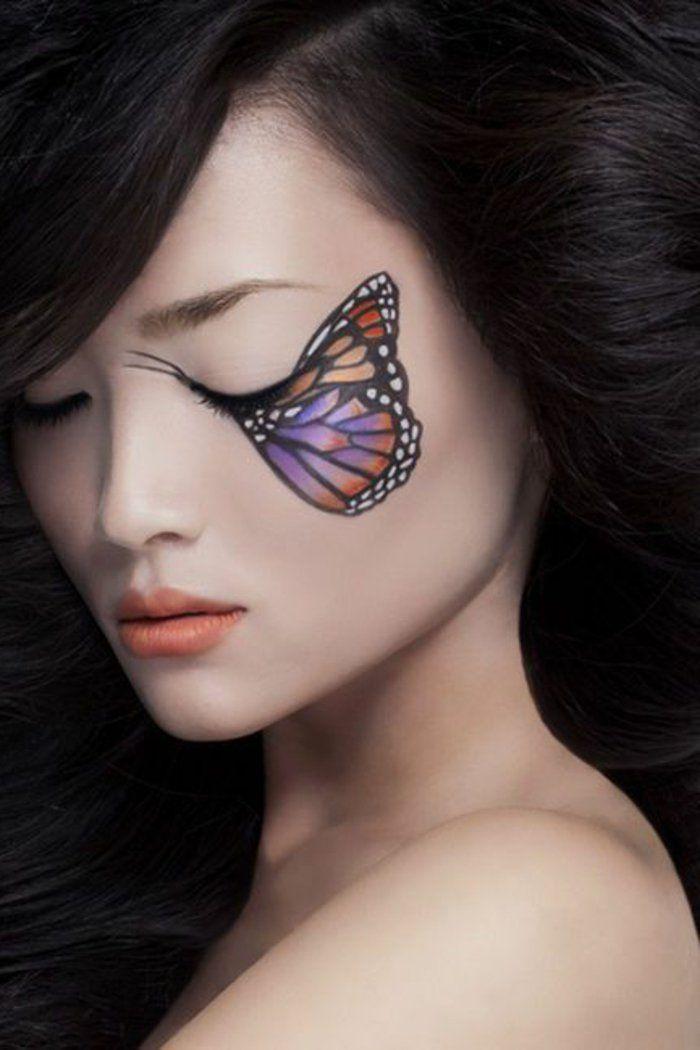44 best maquillage artistique images on pinterest maquillage artistique recherche et visages. Black Bedroom Furniture Sets. Home Design Ideas