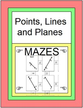 points lines and planes 2 mazes maze planes and activities. Black Bedroom Furniture Sets. Home Design Ideas