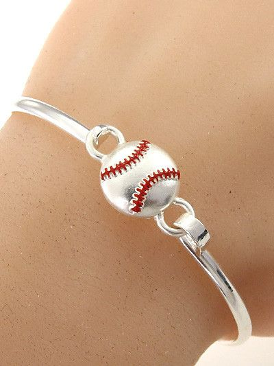 Hand Made Baseball Hook Bangle Bracelet