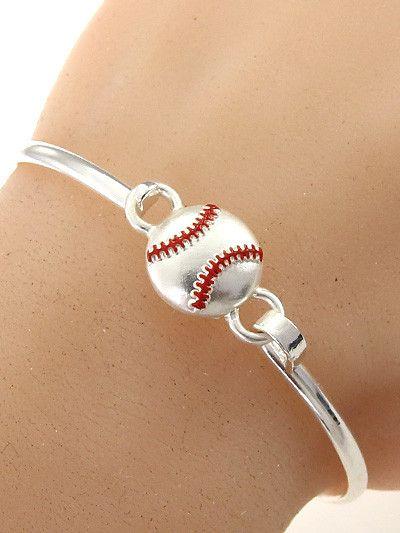 Hand Made Baseball Hook Bangle Bracelet