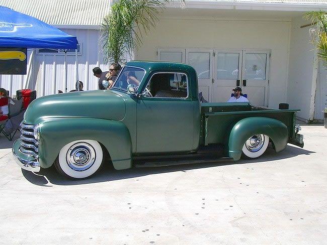 nice 3 window chevy truck