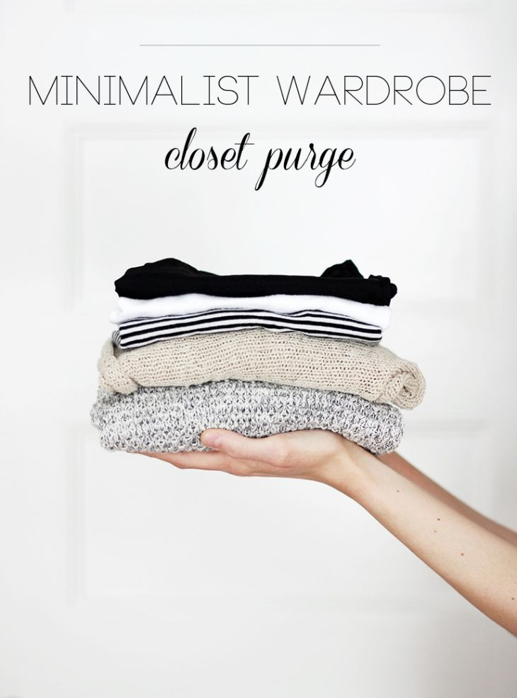 Minimalist Wardrobe: Closet Purge Tips | Simple living | Style inspiration
