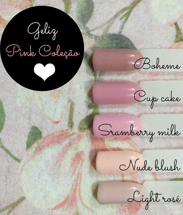 A nossa selecção de verniz de gel GELIZ rosa para a nova estação! http://biucosmetics.pt/index.php/verniz-de-gel/as-cores-geliz/basic.html #vernizdegel #nails #biucosmetics