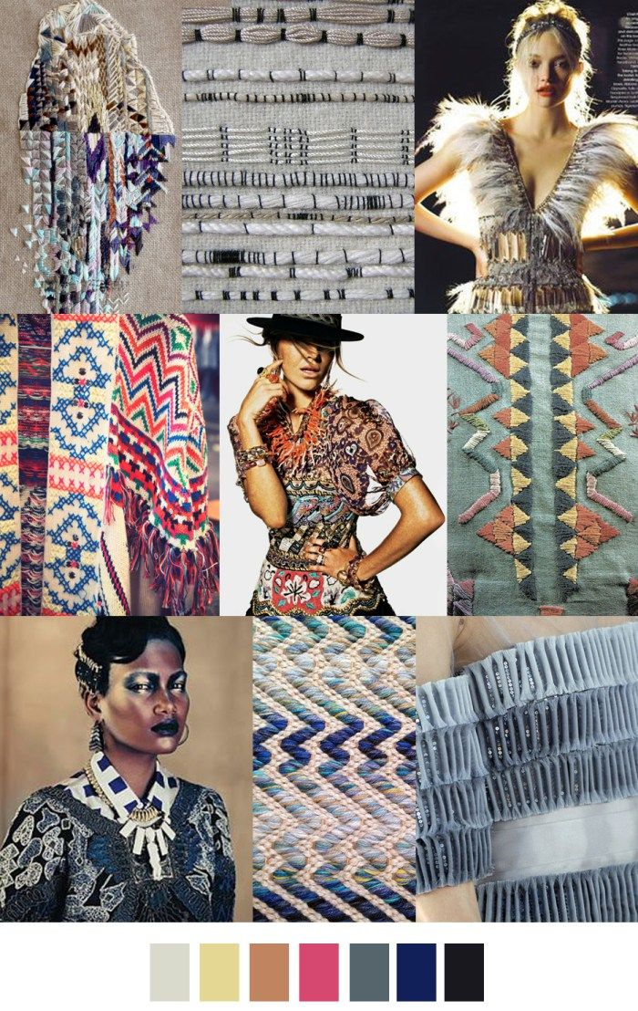 En haut à droite F/W 2017-2018 pattern & colors trends: TRIBAL TEXTURE