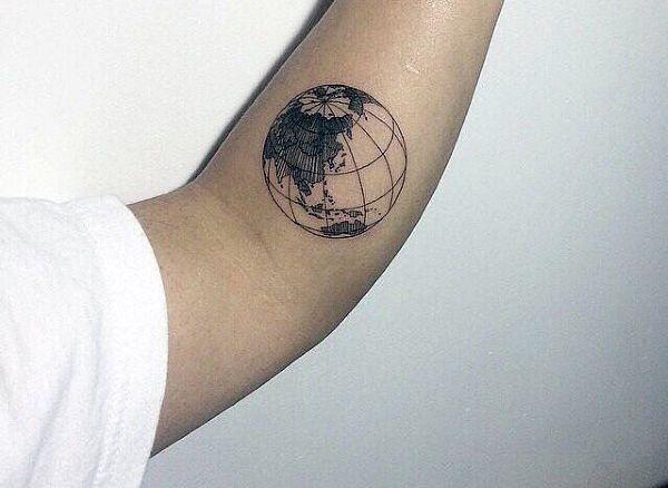 Globe Cool Small Tattoos Men