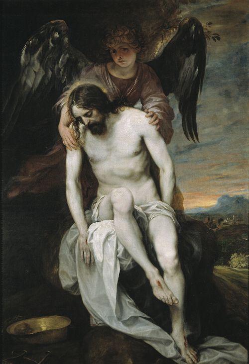 Alonso Cano - El Cristo Muerto Sostenido por un Angel (The Dead Christ Supported by an Angel); Museo del Prado, Madrid, Spain; c.1646 - 1652
