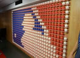 MLB Fan Cave...what an awesome place for baseball fans