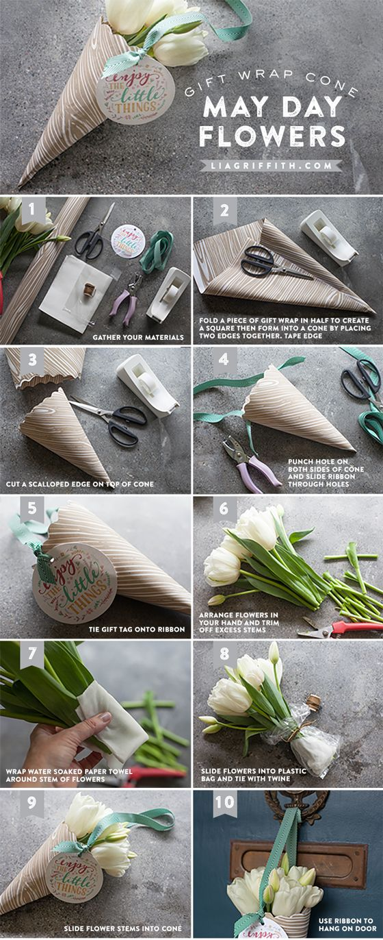 Make Your Own May Day Basket   Printable Tags