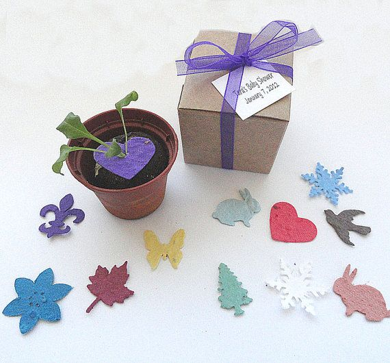 100 Purple Seed Heart Wedding Favors Party Favors by naturefavors, $149.95