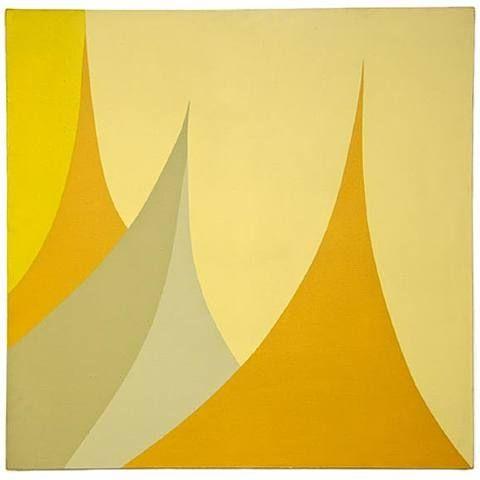 June Harwood: untitled hard-edge painting
