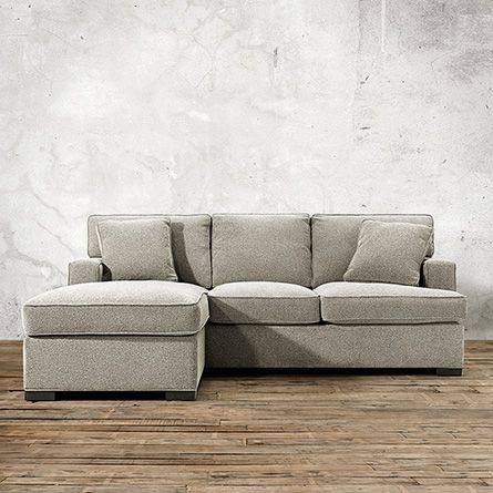 """Dune 88"""" Upholstered Queen Sleeper Sofa with Chaise in Theater Gunsmoke"""
