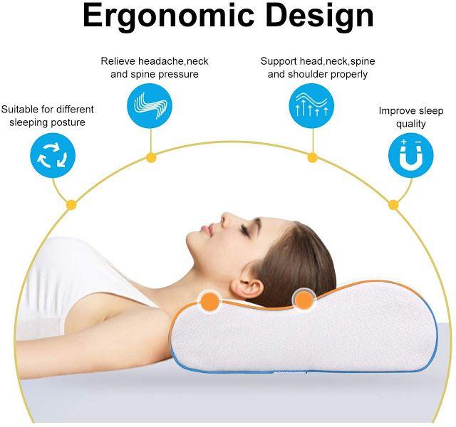 Memory Foam Pillow Contour Orthopedic Cervical Pillow Cervical Pillows Memory Foam Pillow Foam Pillows
