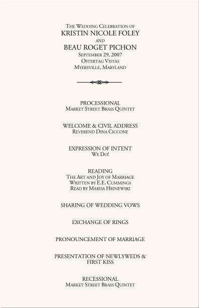 Ponad 25 najlepszych pomysłów na Pintereście na temat Wedding - wedding agenda sample