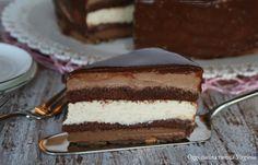 La torta sette veli è un capolavoro di pasticceria fatto da sette golosi strati dolci di bavarese al cioccolato e nocciola,croccante alle mandorle e glassa