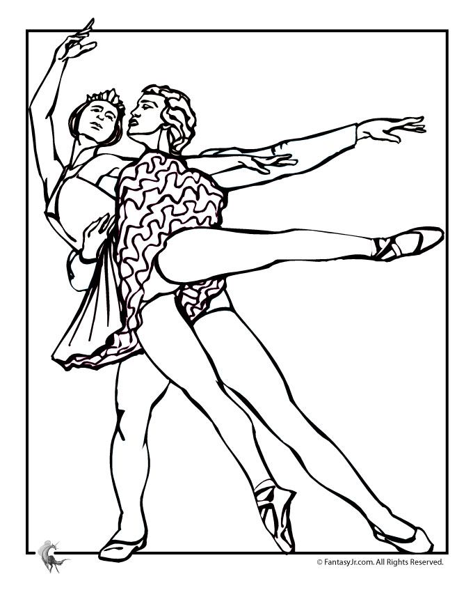 Ballet Coloring Pages Couple Page Fantasy Jr