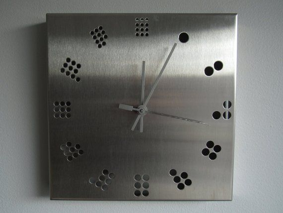 Industrial Stainless Steel Wall Clock Minimal Geometric Design Vintage Square Clock Square Clocks Steel Wall Wall Clock