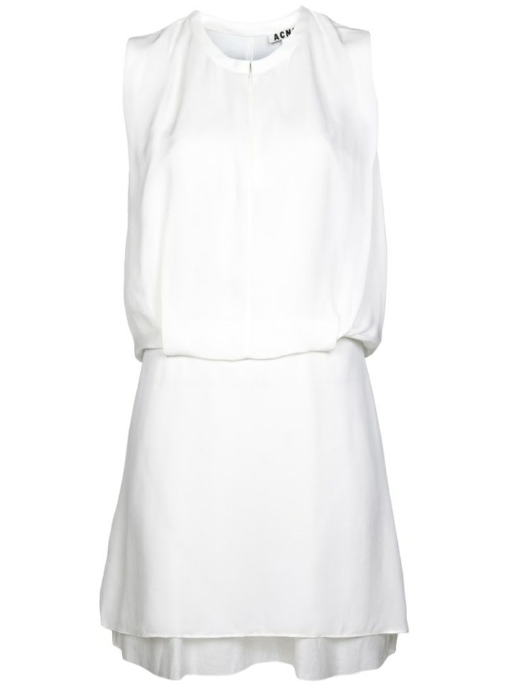 Style - Minimal + Classic: #acne #white #dress