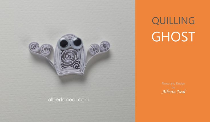 VIDEO: How to make a quilling ghost