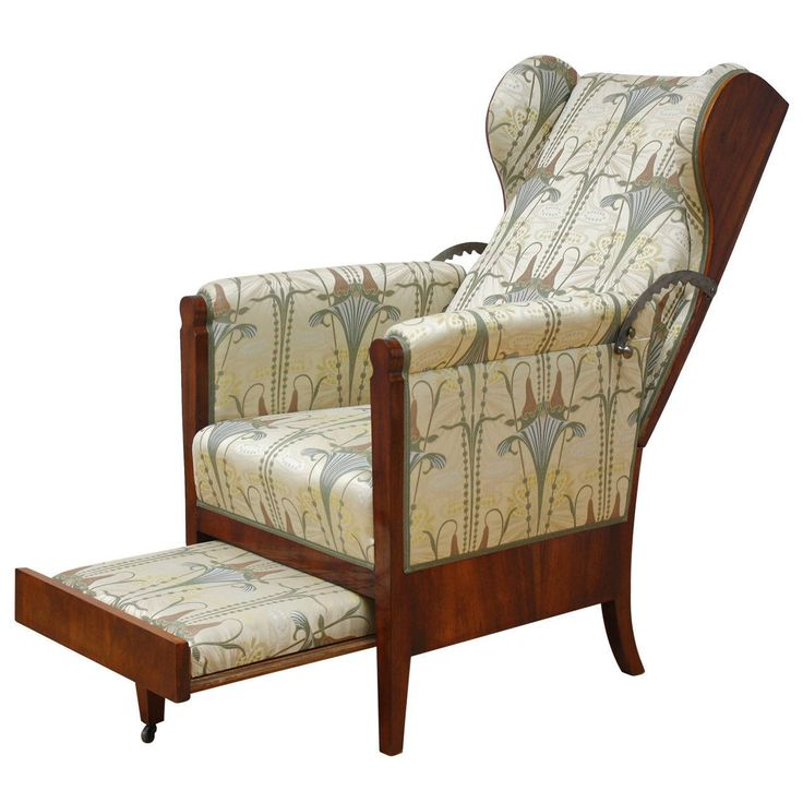 19th Century, Unusual Austrian Biedermeier Metamorphic Reclining Armchair | From a unique collection of antique and modern wingback chairs at https://www.1stdibs.com/furniture/seating/wingback-chairs/