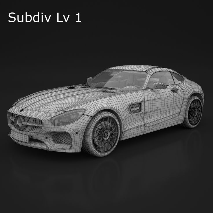 3D Model Mercedes AMG GTS 2016 | fbx obj max - 3D Squirrel