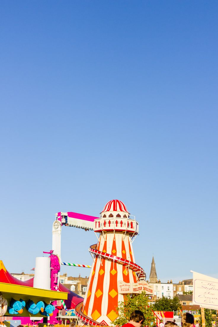 margate dreamland helter skelter blue sky summer
