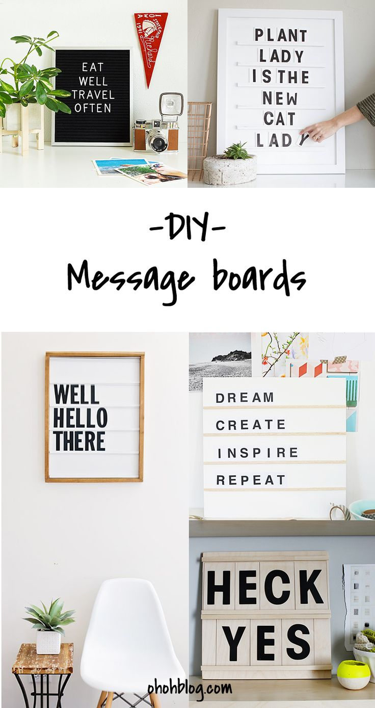 DIY Message Boards
