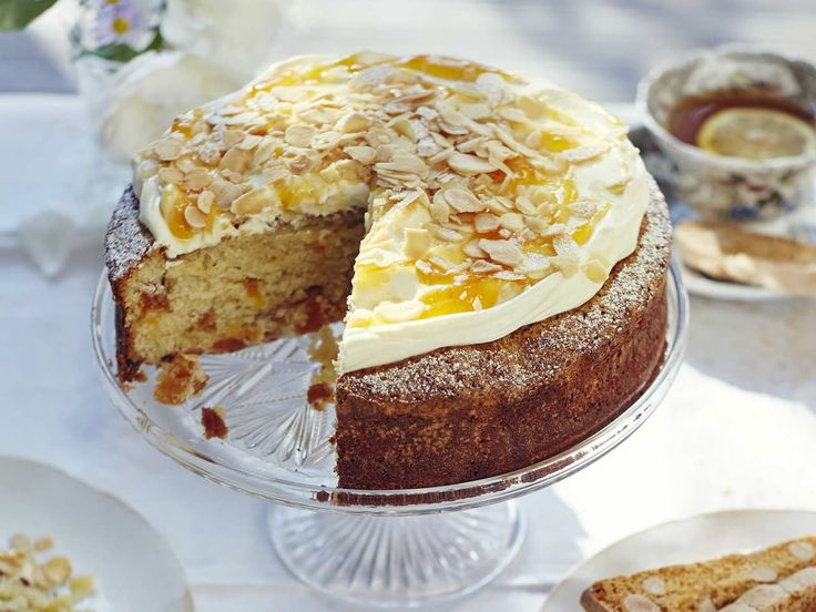 A rich and luxurious cake with chopped apricots, almonds, marzipan, and Amaretto that makes a perfect alternative to Simnel cake at Easter.