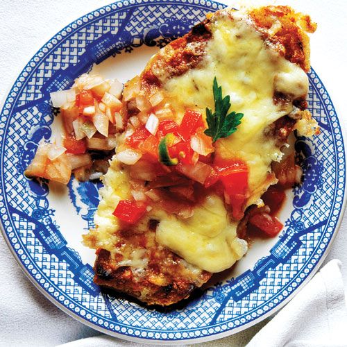 Molletes (Mexican Bean and Cheese Sandwich)